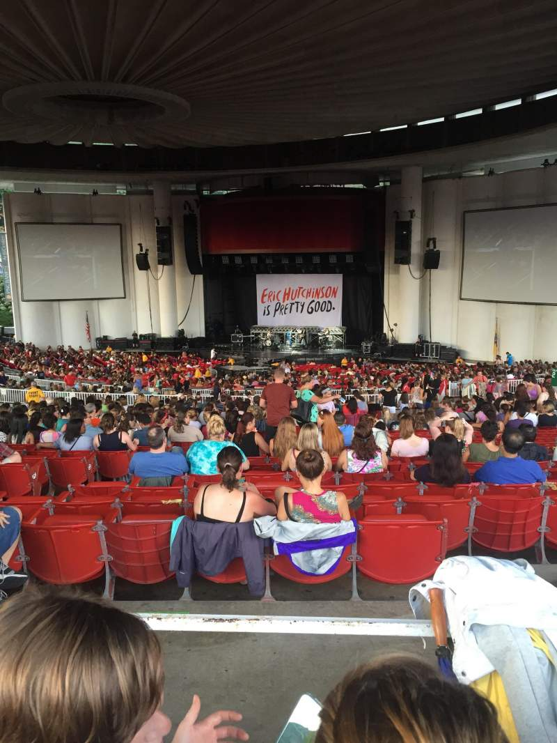Seating view for PNC Bank Arts Center Section 402 Row J Seat 114