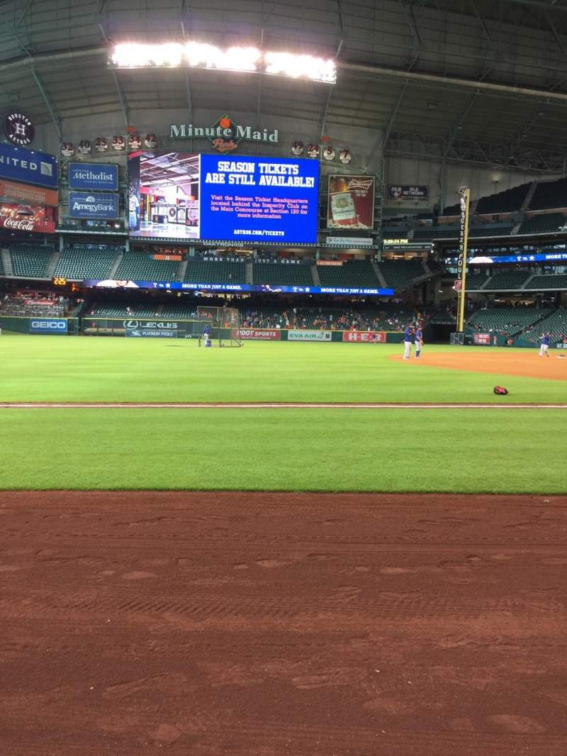 Seating view for Minute Maid Park Section 110 Row 1 Seat 6
