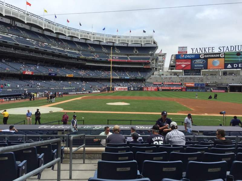 Seating view for Yankee Stadium Section 116 Row 19 Seat 18