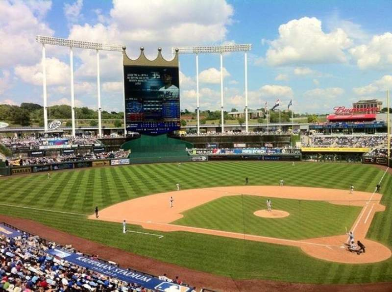 Seating view for Kauffman Stadium Section 311 Row A Seat 1