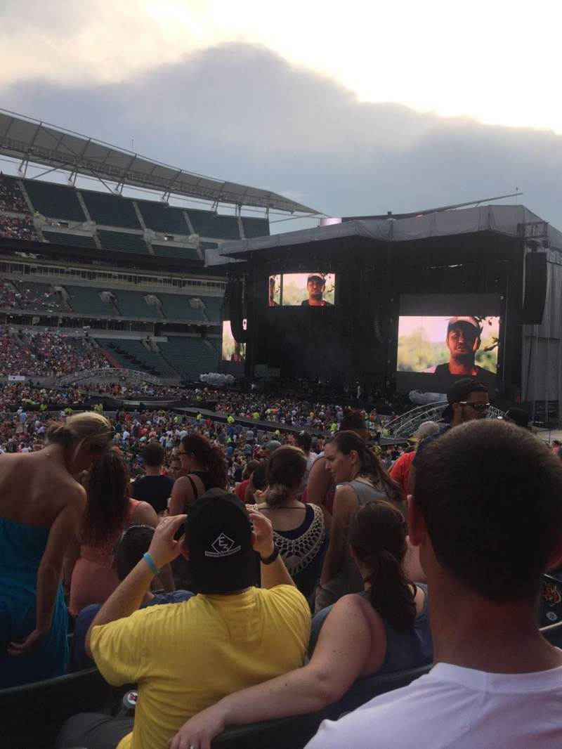 Seating view for Paul Brown Stadium Section 142 Row 23 Seat 5
