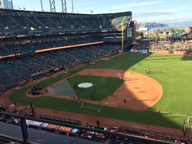 Seating view for AT&T Park Section VB305 Row B