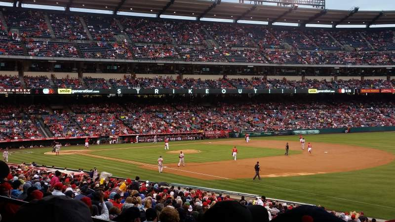 Seating view for Angel Stadium Section T227 Row C Seat 11