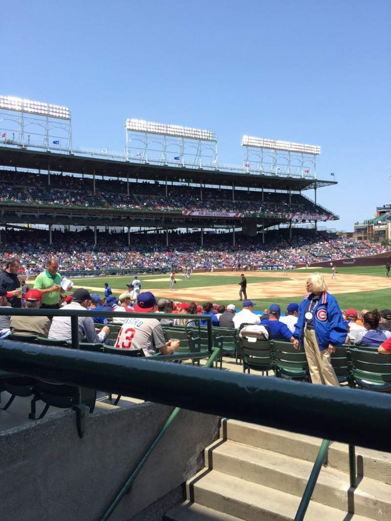 Seating view for Wrigley Field Section 135 Row 5 Seat 101