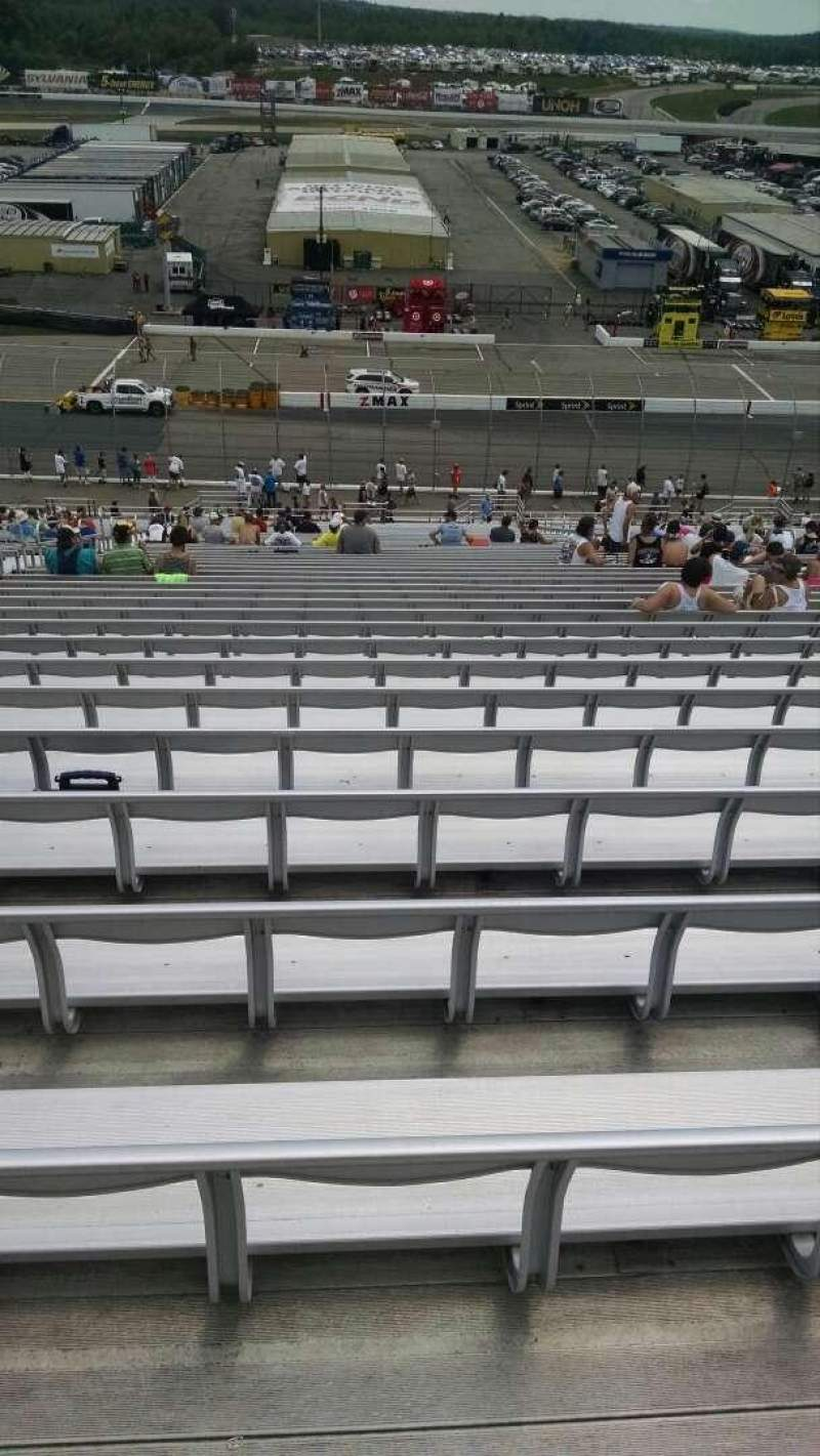 Seating view for New Hampshire Motor Speedway Section NP Row 50 Seat 13