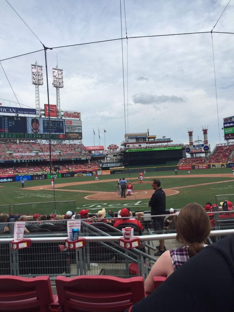 Seating view for Great American Ball Park Section 23 Row C Seat 5