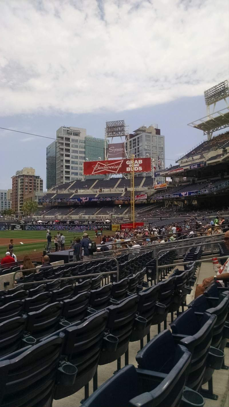 Seating view for PETCO Park Section Fv103 Row 15 Seat 3