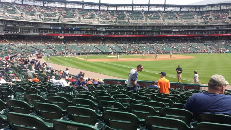 Seating view for Comerica Park Section 113 Row 20 Seat 18