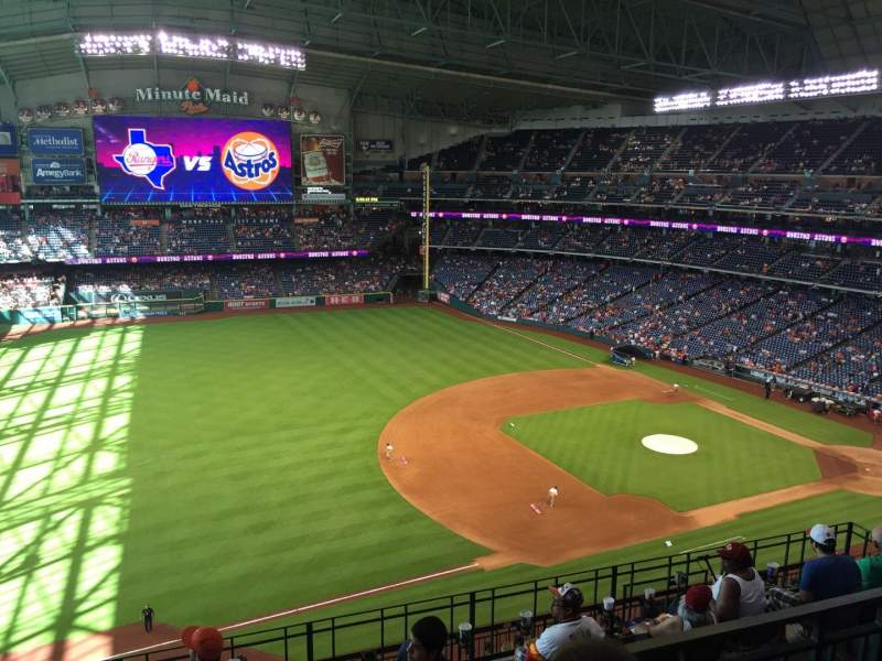 Seating view for Minute Maid Park Section 409 Row 2 Seat 11