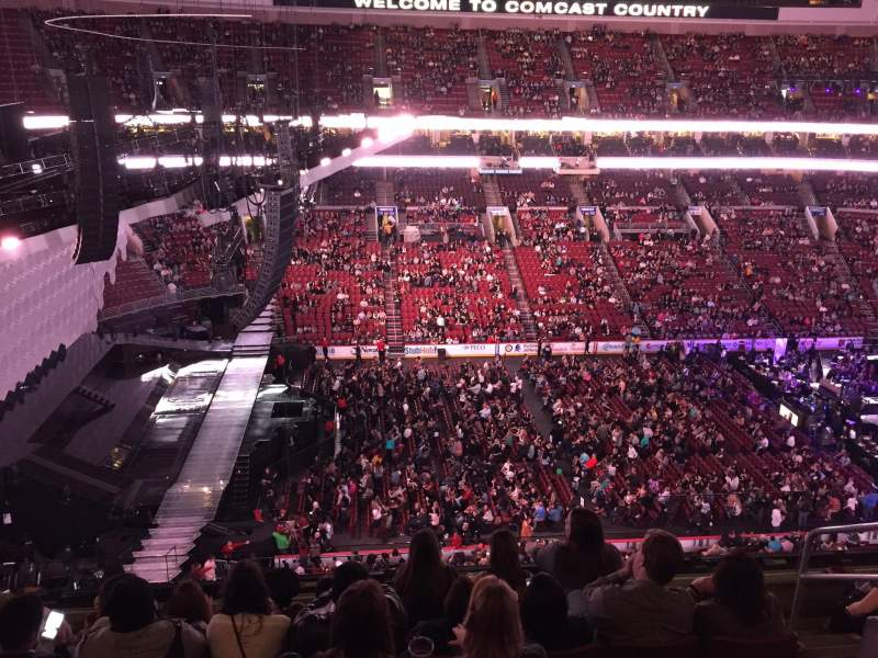 Seating view for Wells Fargo Center Section 223 Row 6 Seat 16