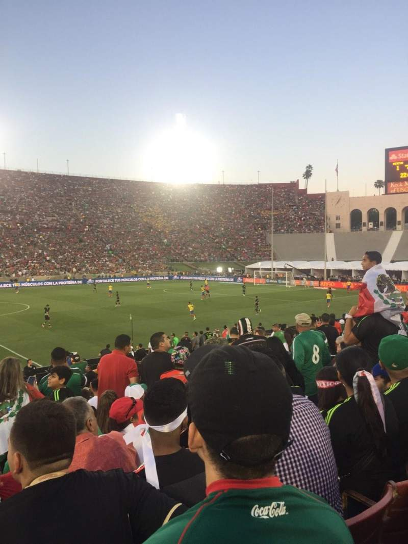 Seating view for Los Angeles Memorial Coliseum Section 7 Row 19 Seat 6
