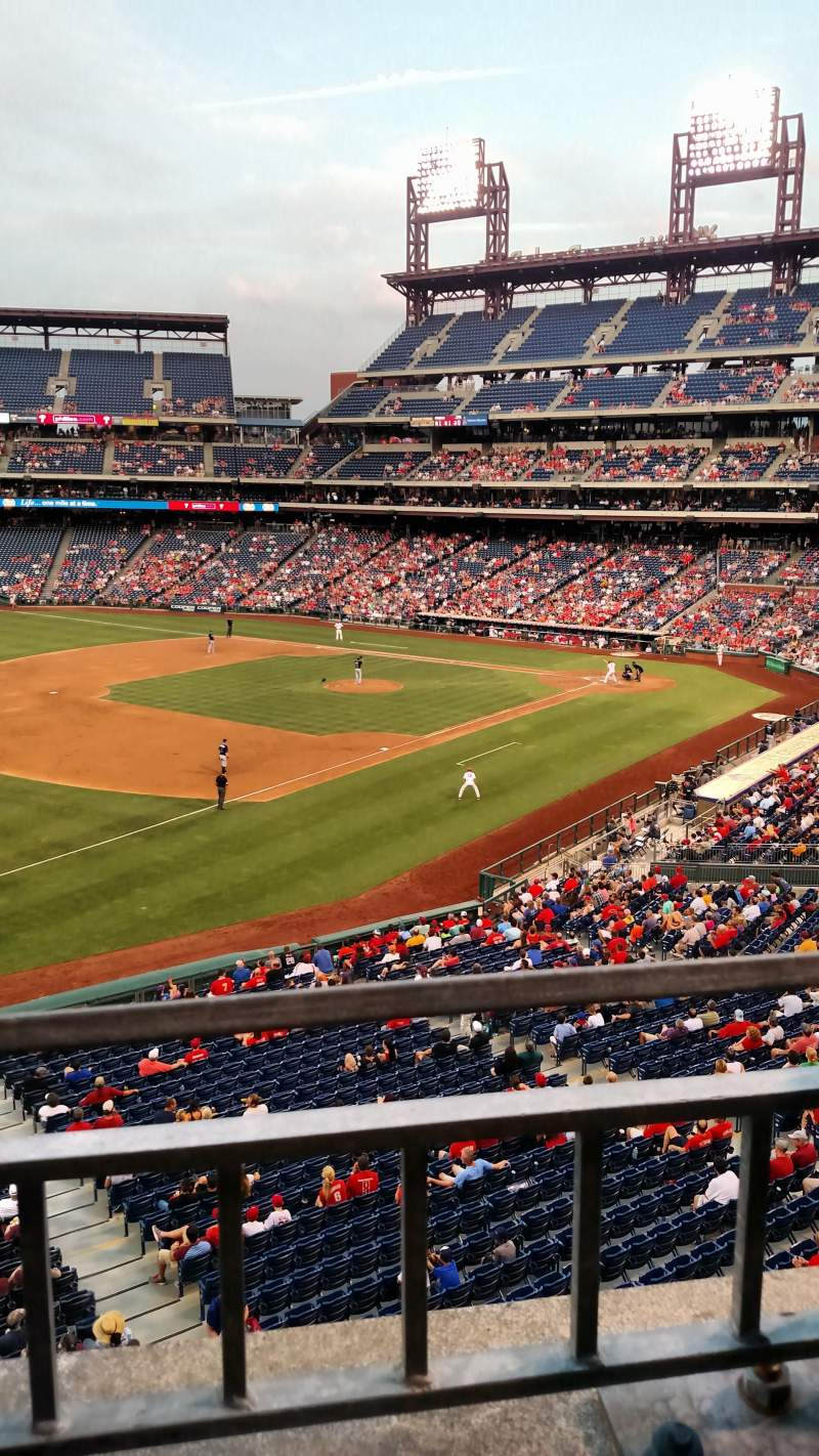 Seating view for Citizens Bank Park Section 234 Row 1 Seat 11