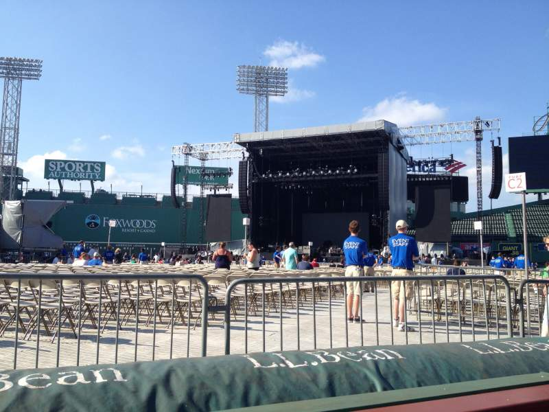 Seating view for Fenway Park Section Field Box 14 Row 2 Seat 2