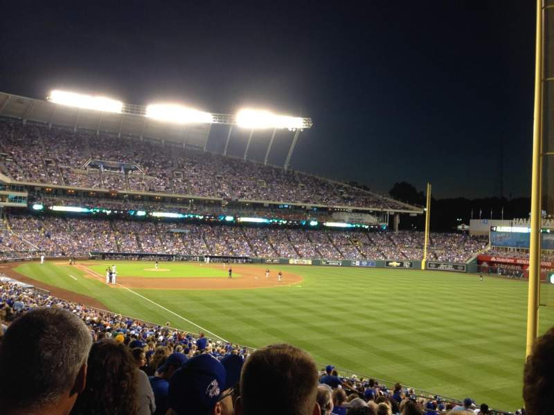 Seating view for Kauffman Stadium Section 146 Row NN