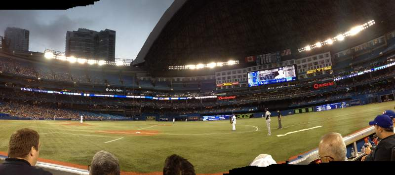 Seating view for Rogers Centre Section 116R Row 1 Seat 7