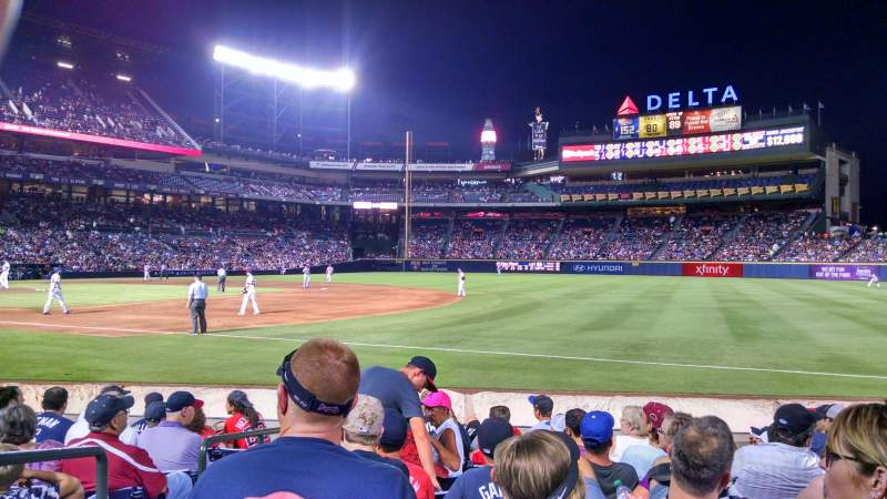 Seating view for Turner Field Section 119 Row 9 Seat 2