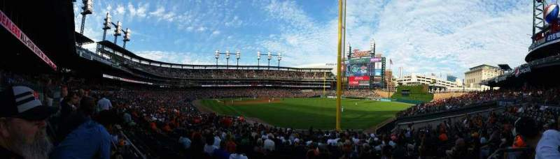Seating view for Comerica Park Section 112 Row DAC  Seat 7