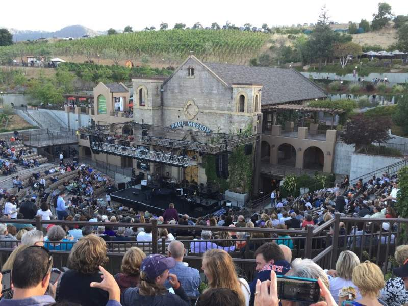 Seating view for Mountain Winery Section GA Row NA Seat NA