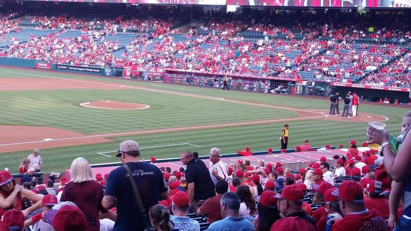 Seating view for Angel Stadium Section T209 Row A Seat 13,14