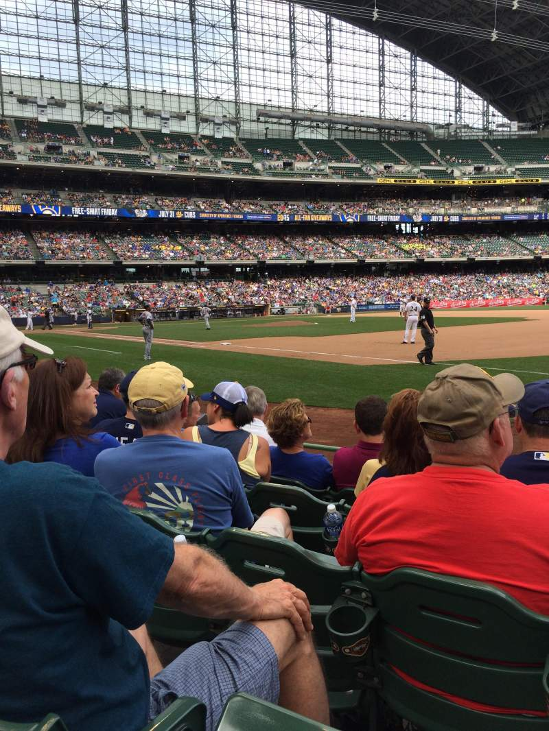 Seating view for Miller Park Section 110 Row 5 Seat 11