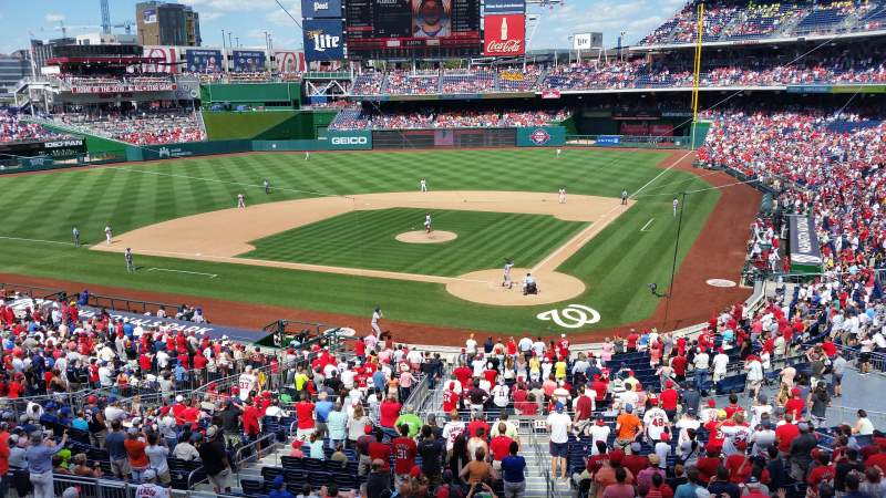 Seating view for Nationals Park Section 211 Row A Seat 1