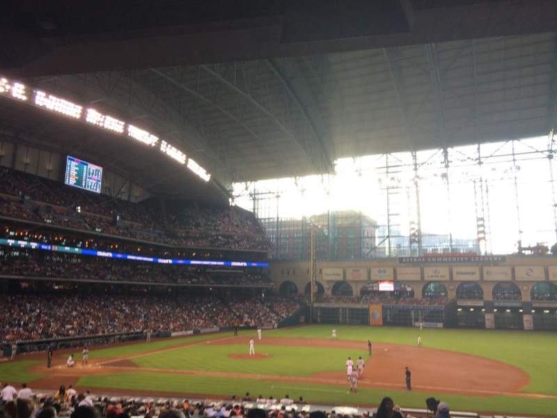 Seating view for Minute Maid Park Section 125 Row 35 Seat 10