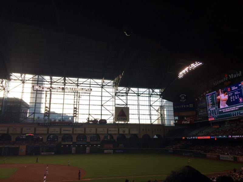Seating view for Minute Maid Park Section 126 Row 35 Seat 10