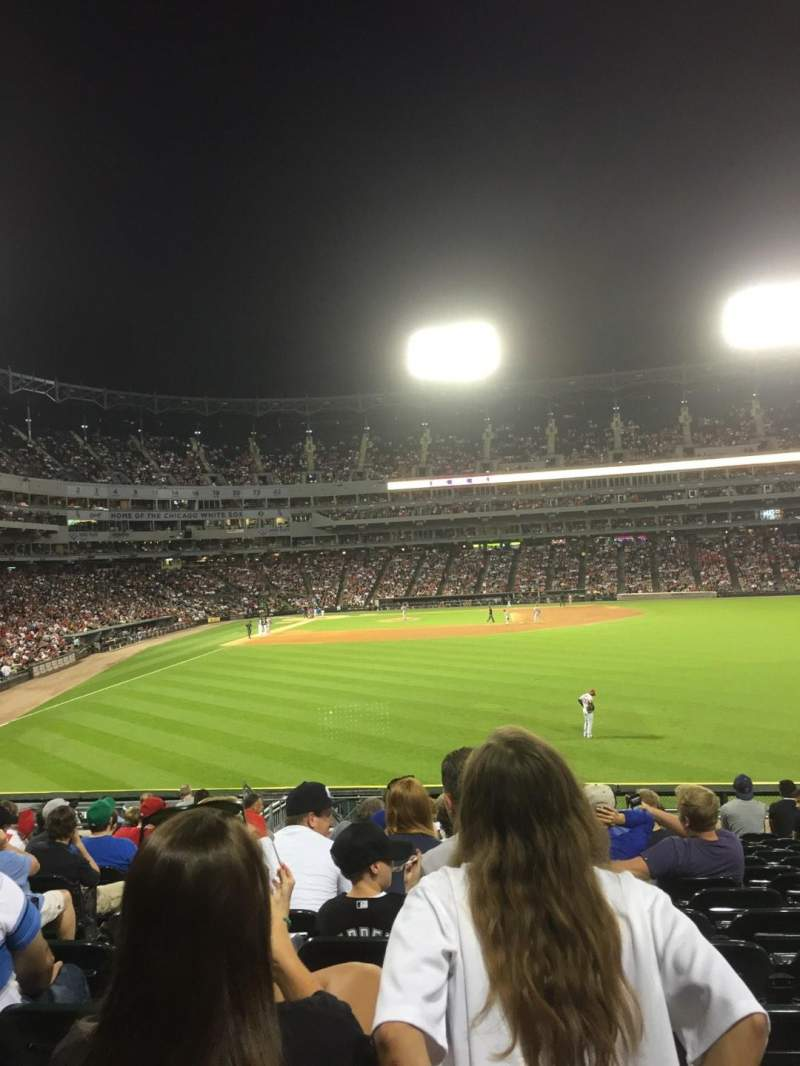 Seating view for Guaranteed Rate Field Section 105 Row 22 Seat 21