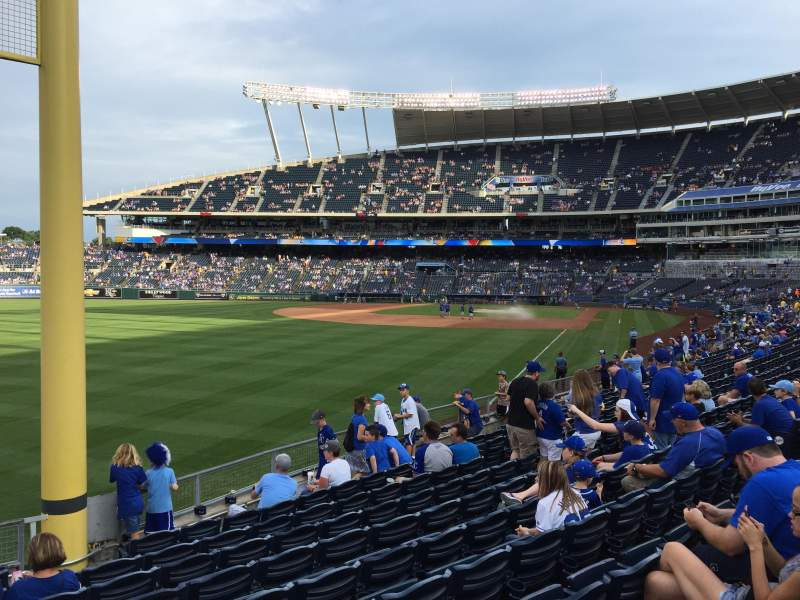 Seating view for Kauffman Stadium Section 108 Row U Seat 5