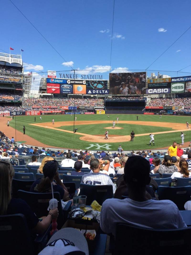 Seating view for Yankee Stadium Section 120A Row 26 Seat 6