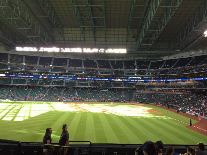 Seating view for Minute Maid Park Section 102 Row 9 Seat 1