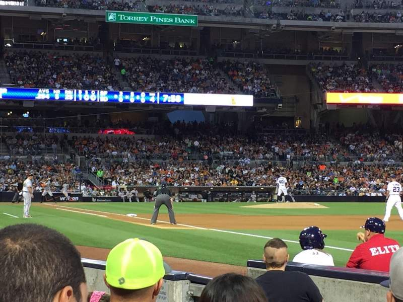 Seating view for PETCO Park Section 117 Row 6 Seat 16