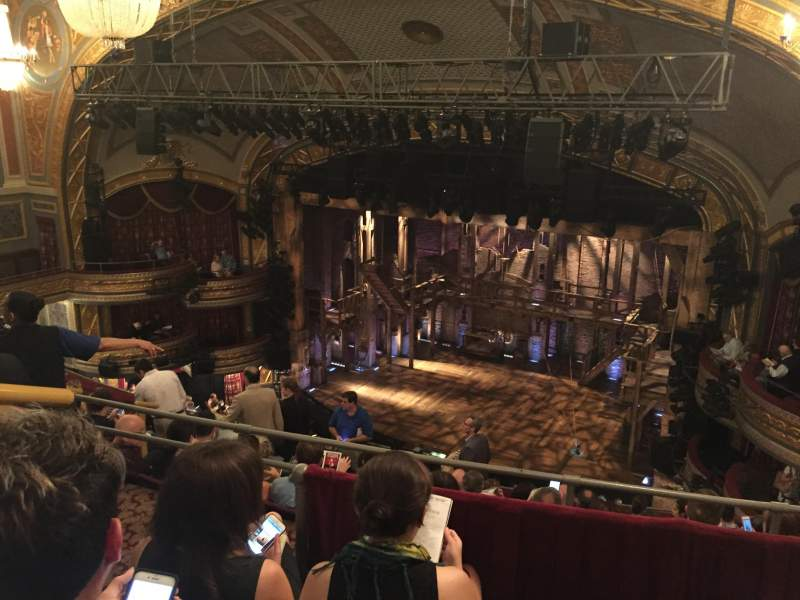 Seating view for Richard Rodgers Theatre Section R Mezz Row C Seat 14