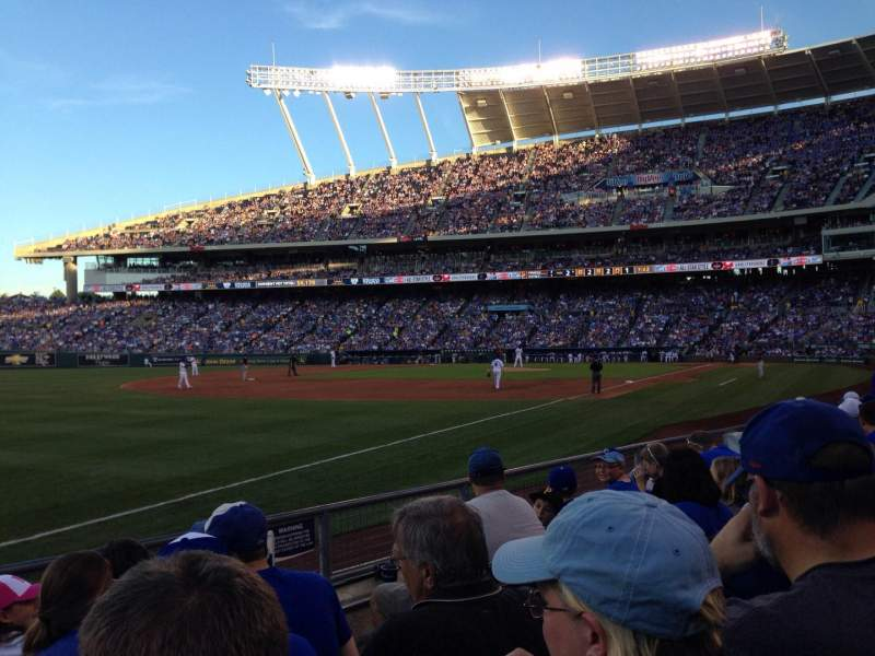 Seating view for Kauffman Stadium Section 110 Row G Seat 8