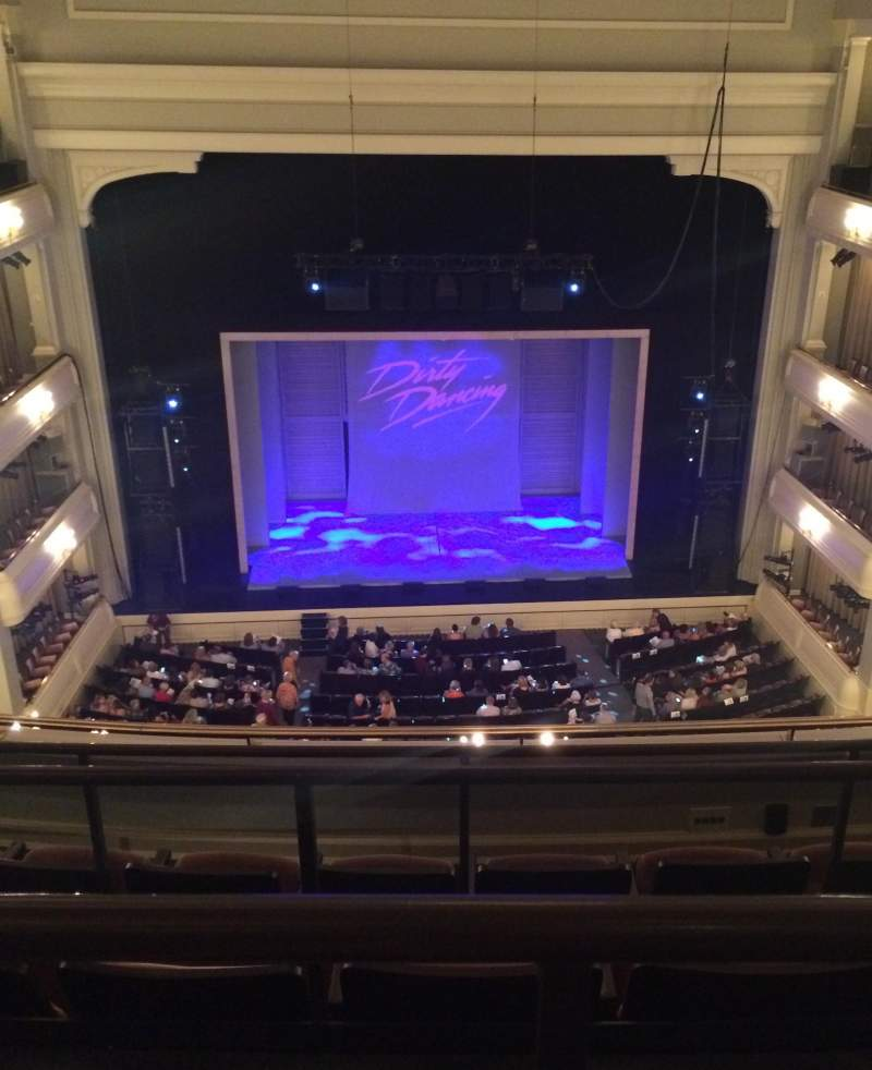 Seating view for Bass Performance Hall Section Lower Gallery Row D Seat 19