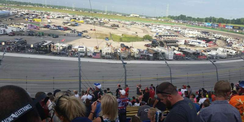 Seating view for Kentucky Speedway