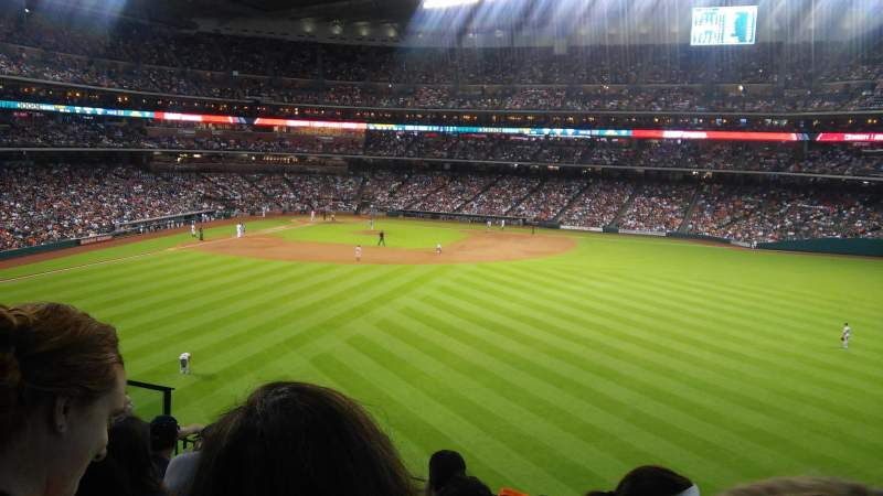 Seating view for Minute Maid Park Section 255 Row 6 Seat 10
