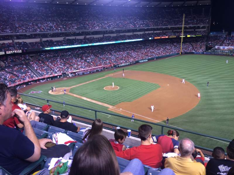 Seating view for Angel Stadium Section V427 Row E Seat 22