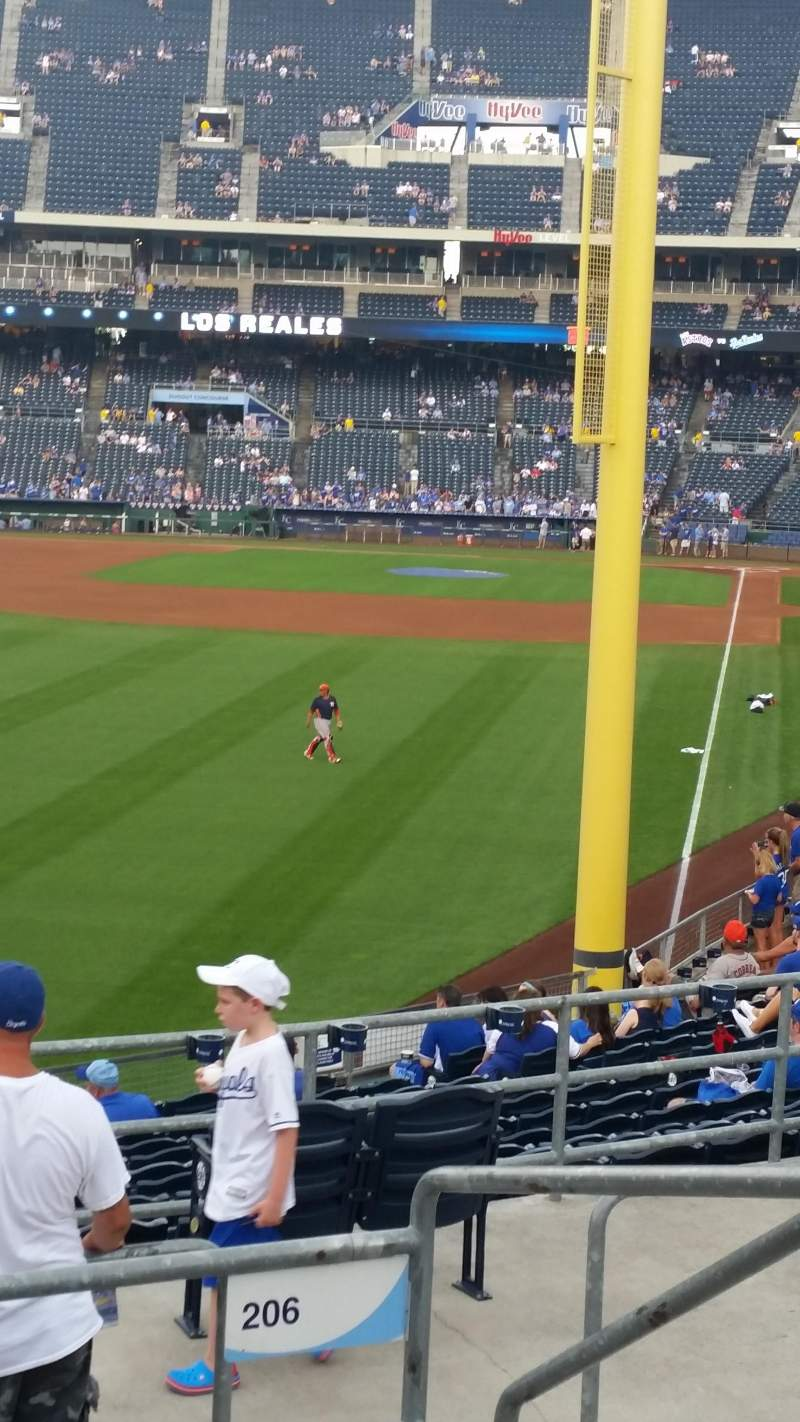 Seating view for Kauffman Stadium Section 206