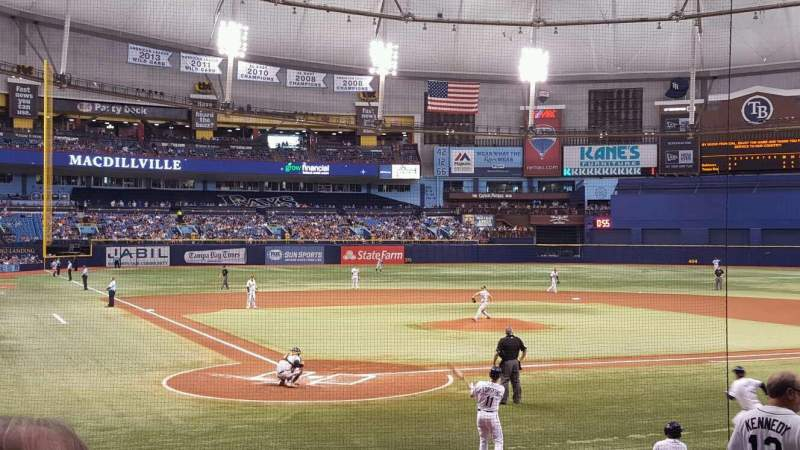 Seating view for Tropicana Field Section 106 Row U Seat 3