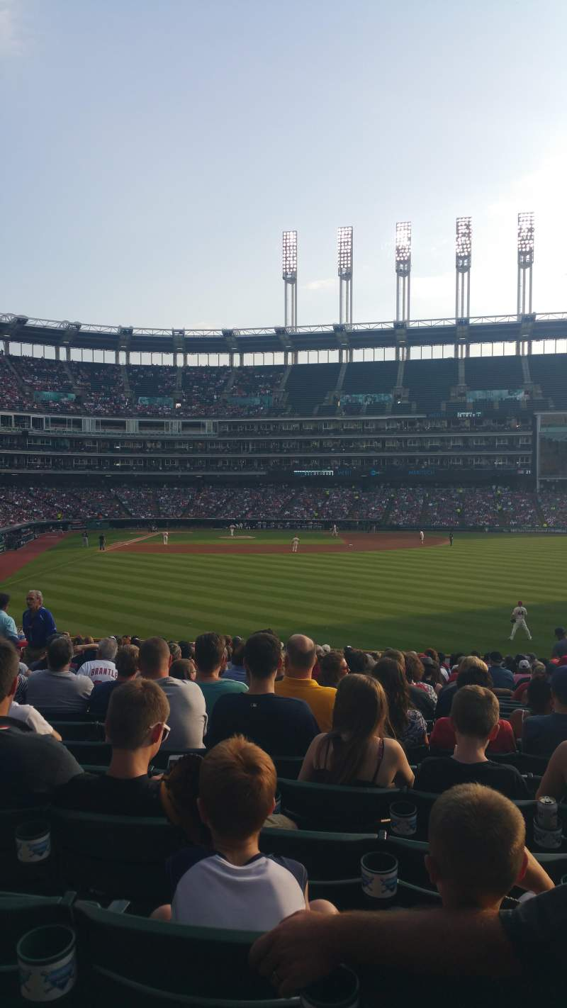 Seating view for Progressive Field Section 111 Row z Seat 4