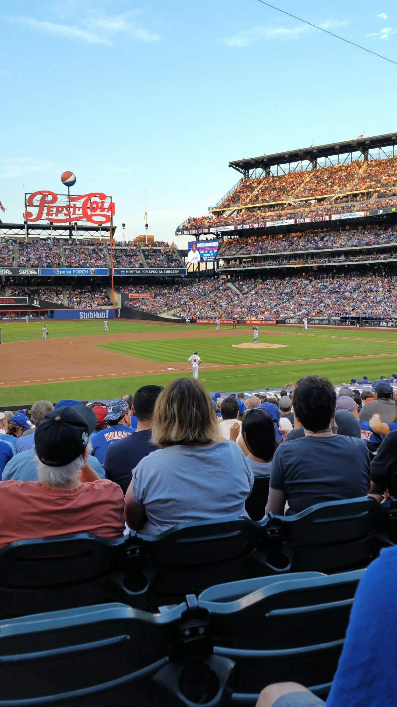 Seating view for Citi Field Section 123 Row 19 Seat 13