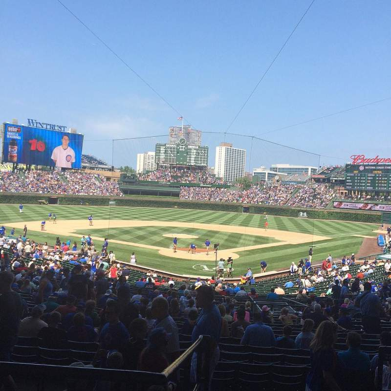 Seating view for Wrigley Field Section 220 Row 6 Seat 101