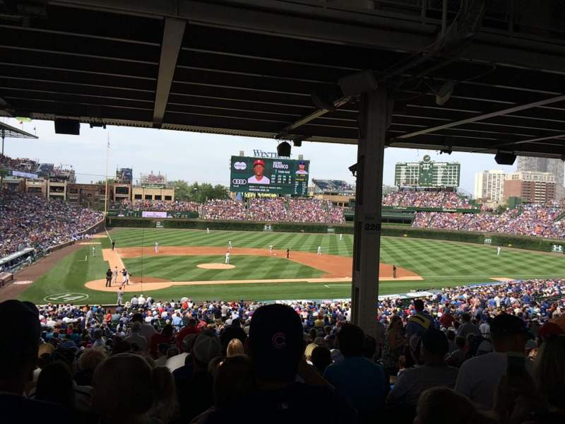 Seating view for Wrigley Field Section 226 Row 16 Seat 109