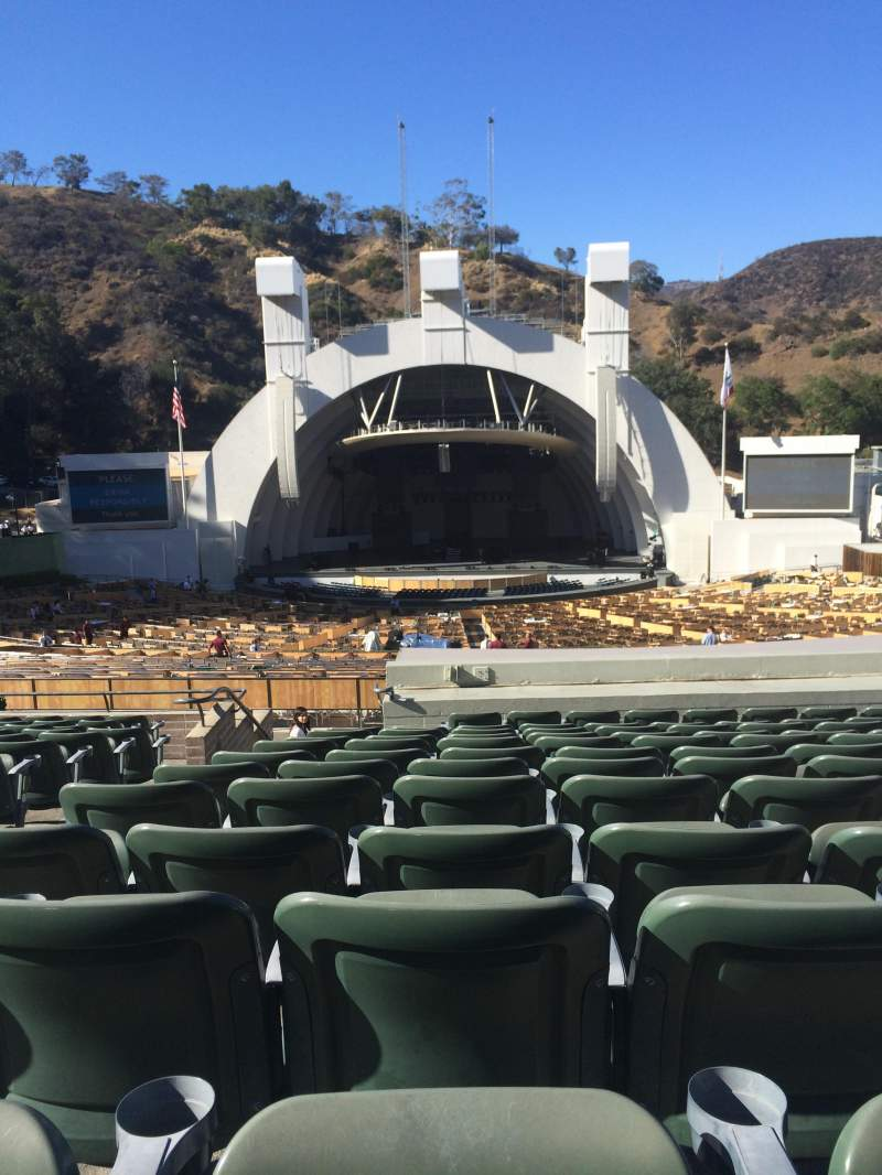 Seating view for Hollywood Bowl Section G1 Row 16 Seat 25