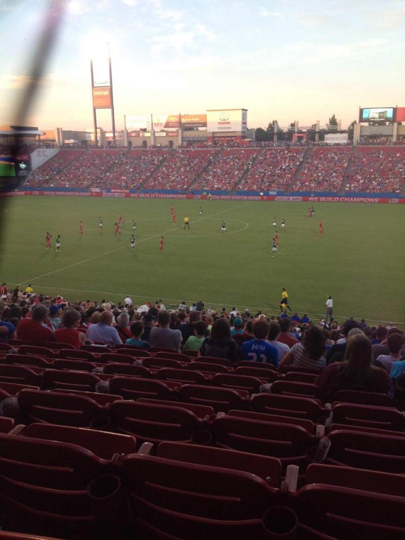 Seating view for Toyota Stadium Section 108 Row 30 Seat 18