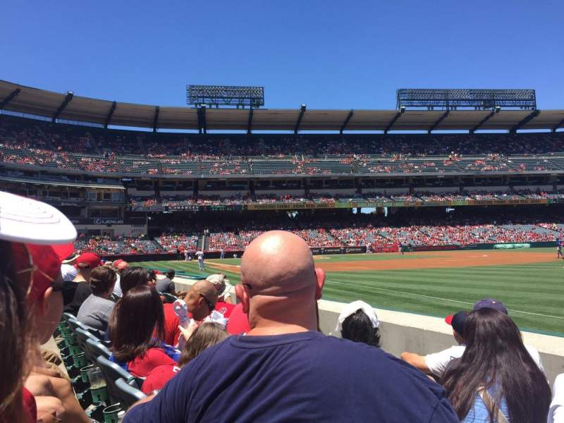 Seating view for Angel Stadium Section F129 Row D Seat 14
