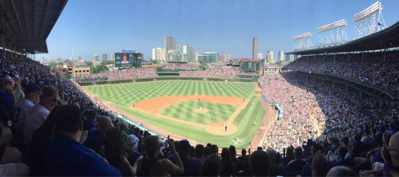 Seating view for Wrigley Field Section 418 Row 9 Seat 7