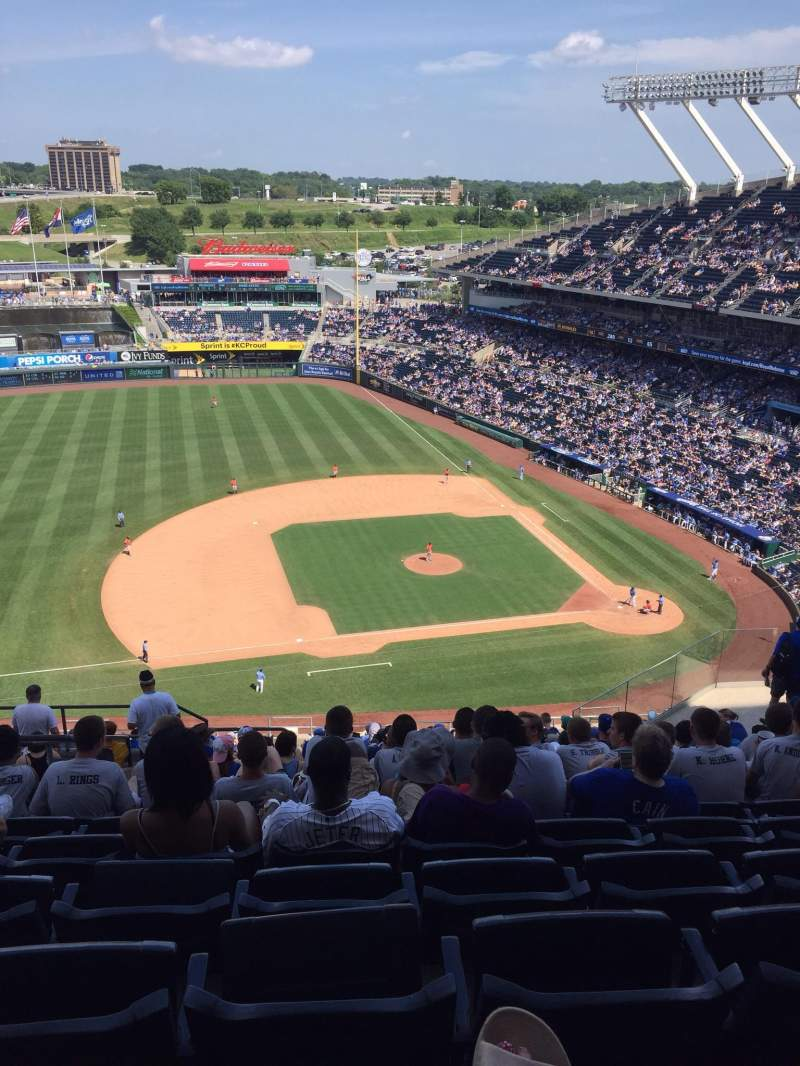 Seating view for Kauffman Stadium Section 411 Row HH Seat 8