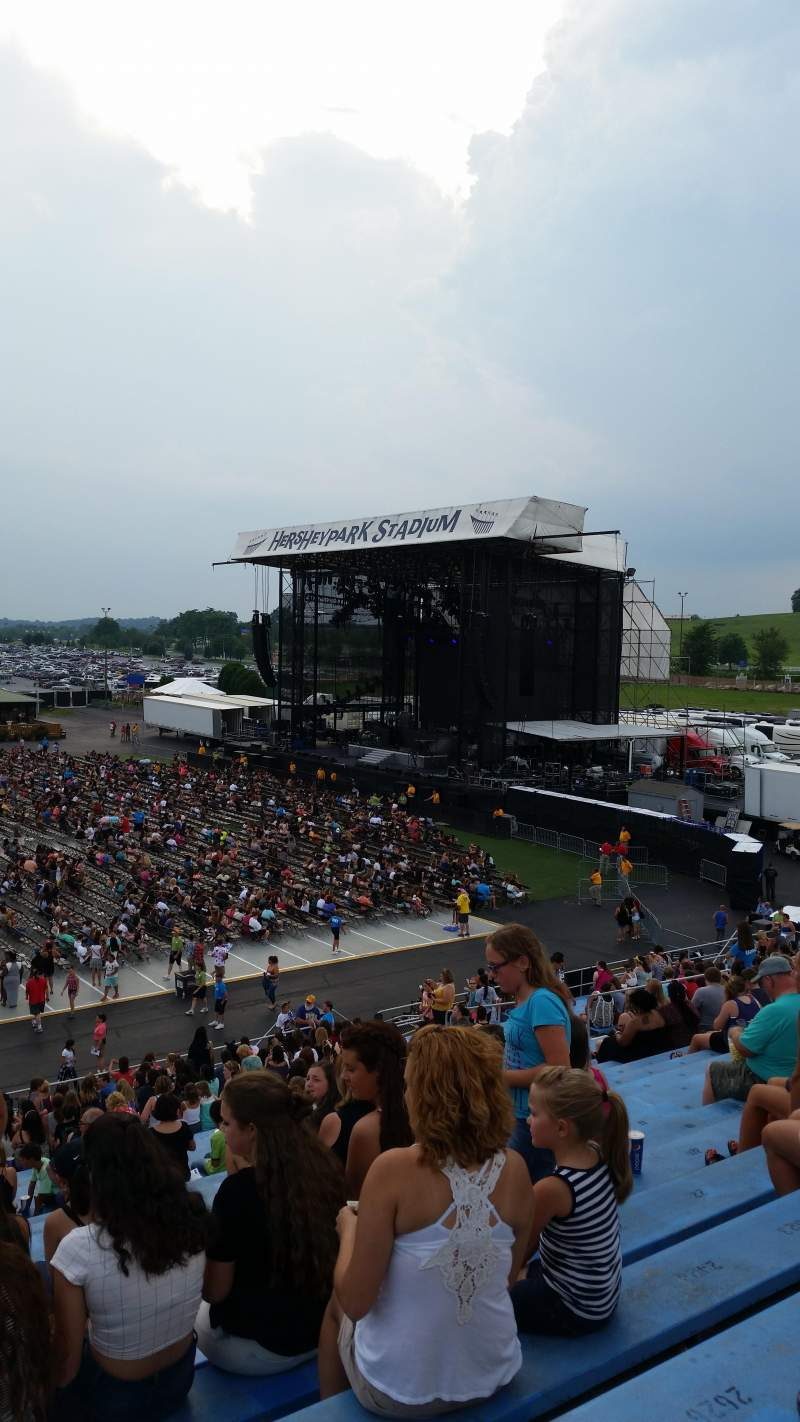 Seating view for Hershey Park Stadium Section 26 Row X Seat 30